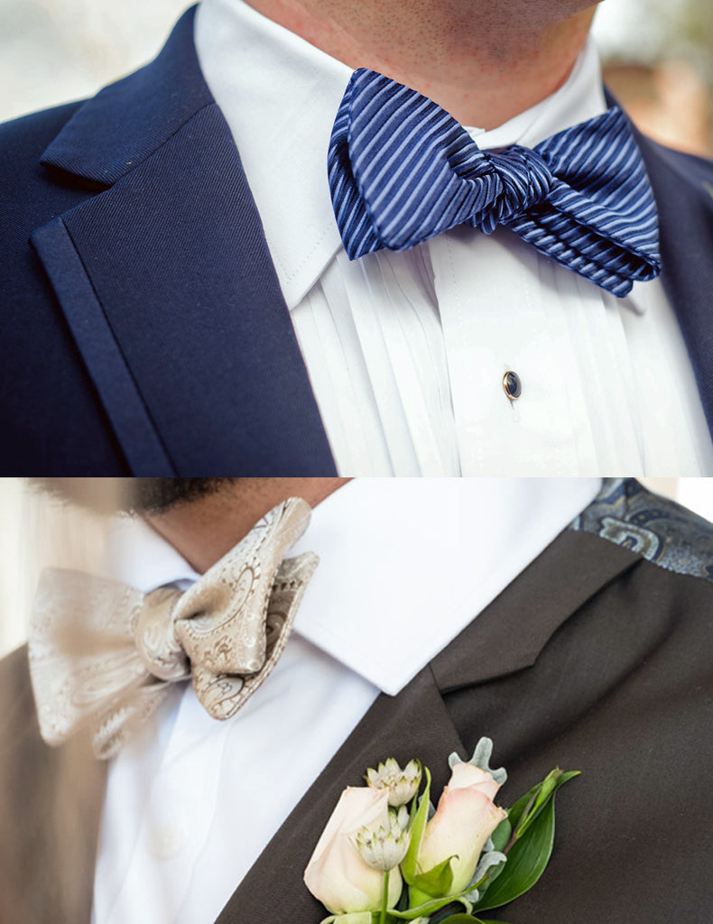 Tuxedo shirt styles defined by collars