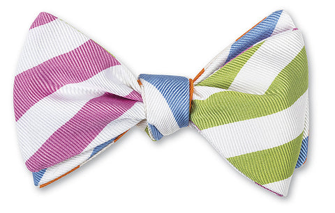 bar stripes combo bow tie