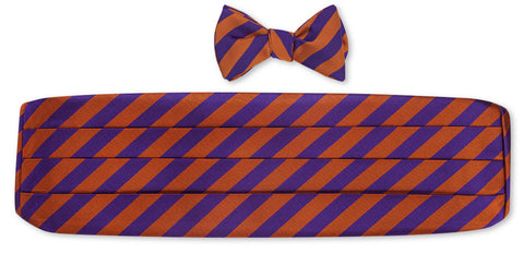clemson bow tie and cummerbund sets