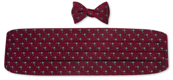 south carolina bow tie and cummerbund sets