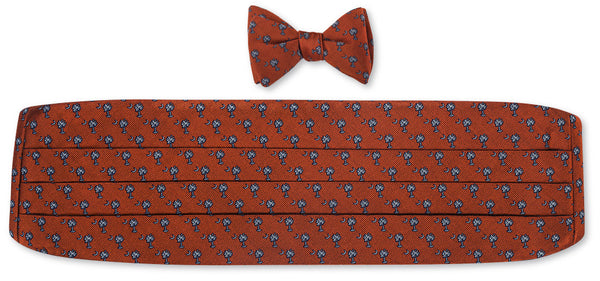 clemson cummerbund and bow tie sets