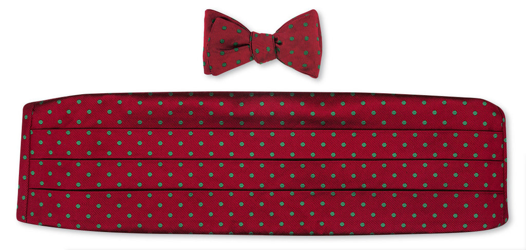 christmas bow tie and cummerbund sets