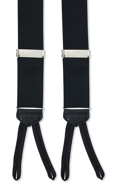 black suspenders nylon