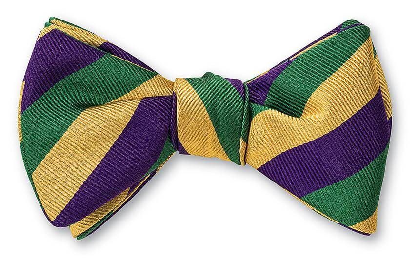 Mardi Gras Stripes Bow Tie - B2291