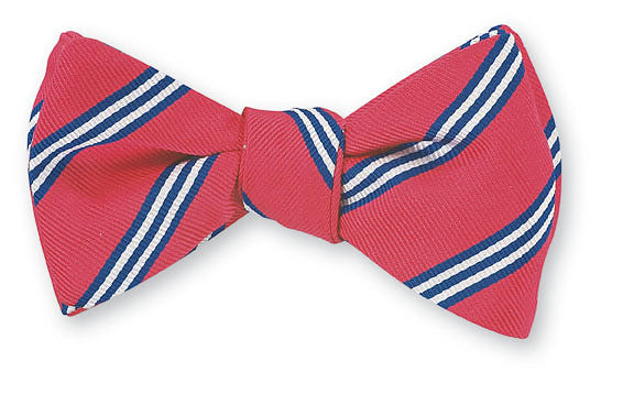 coral brooks stripe bow tie