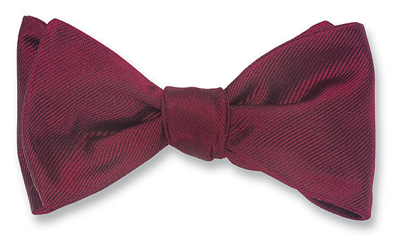 burgundy bow ties