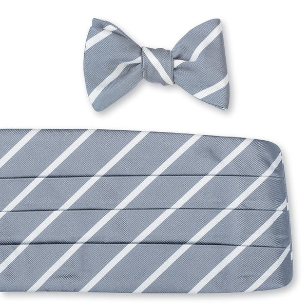 gray cummerbund set