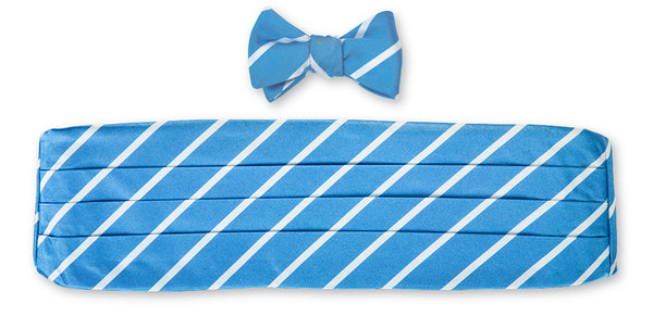 light blue cummerbund set