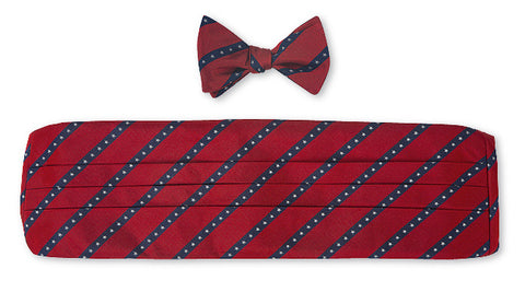 usa bow tie and cummerbund sets