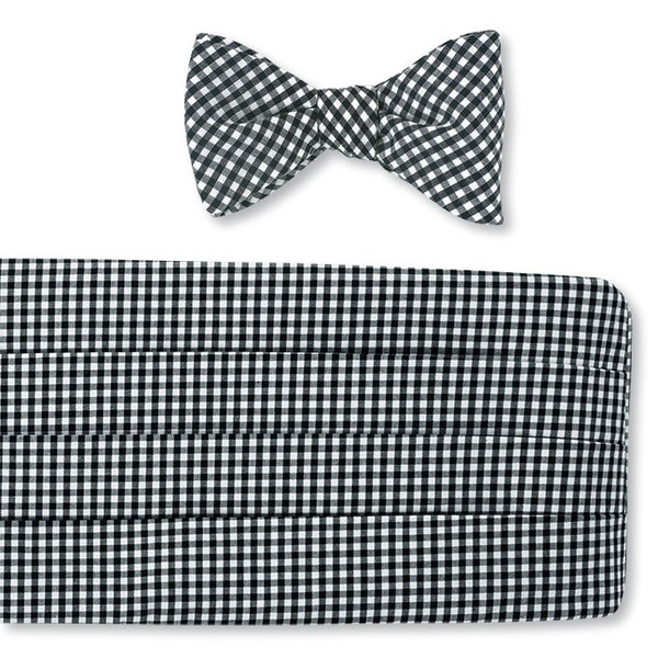 cotton bow tie and cummerbund sets