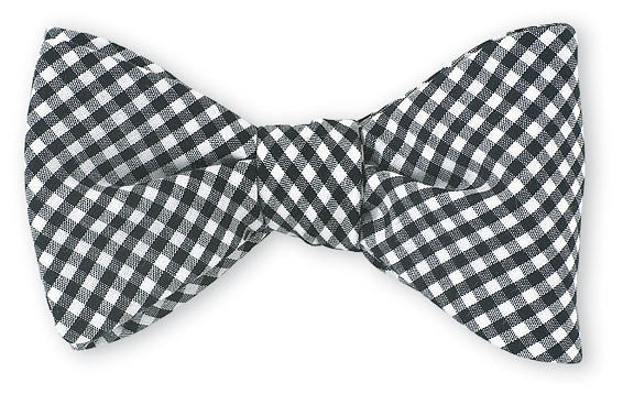 gingham bow ties