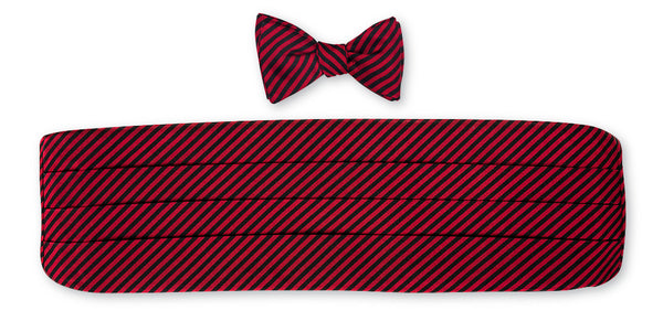 stripe cummerbund set