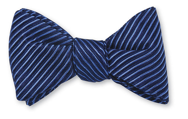 blue ottoman bow ties