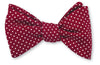 burgundy polka dots bow ties