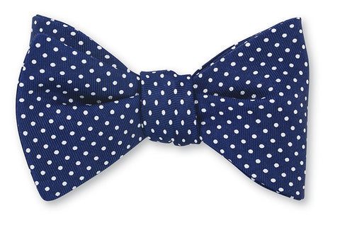 blue polka dots bow ties