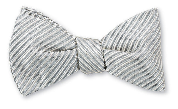 silver ottoman bow ties