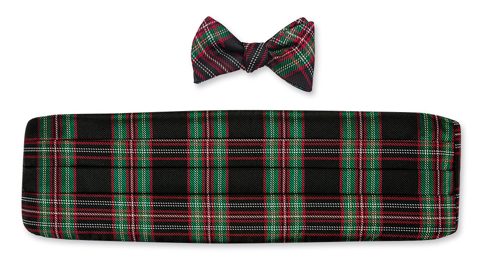 christmas cummerbund set