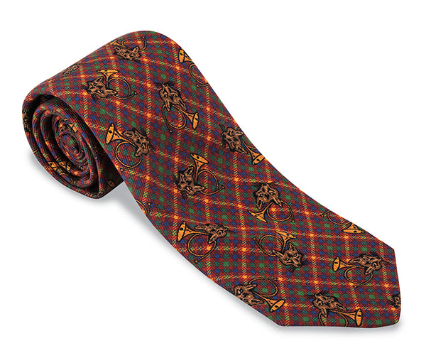 plaid necktie