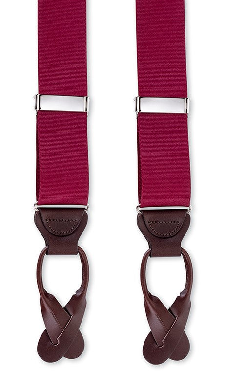 burgundy suspenders