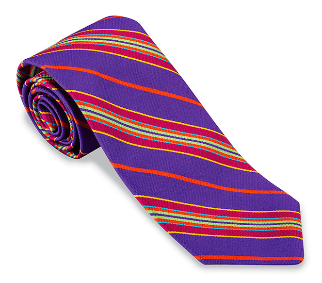 striped necktie