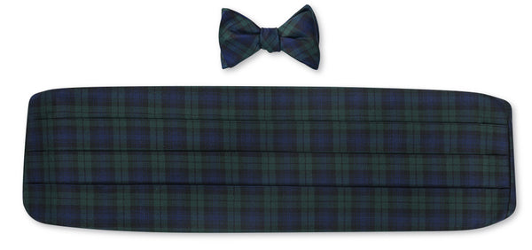 tartan bow tie and cummerbund sets