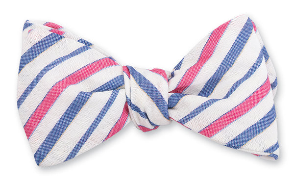 Red/Blue Faulkner Stripes Bow Tie - B4874