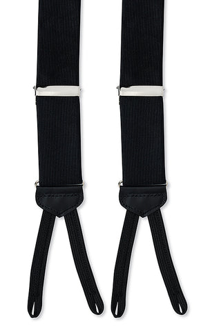 black silk suspenders