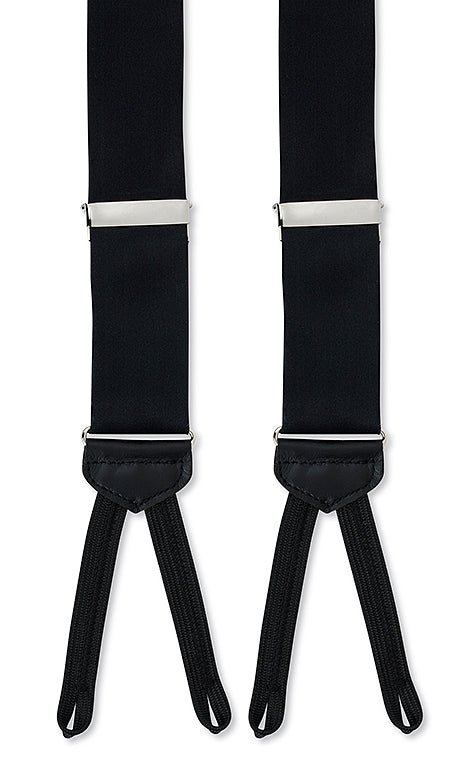 black satin suspenders