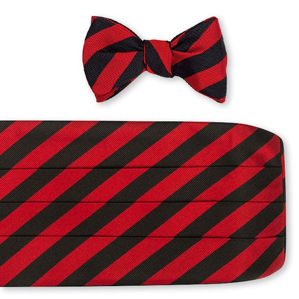 black and red cummerbund