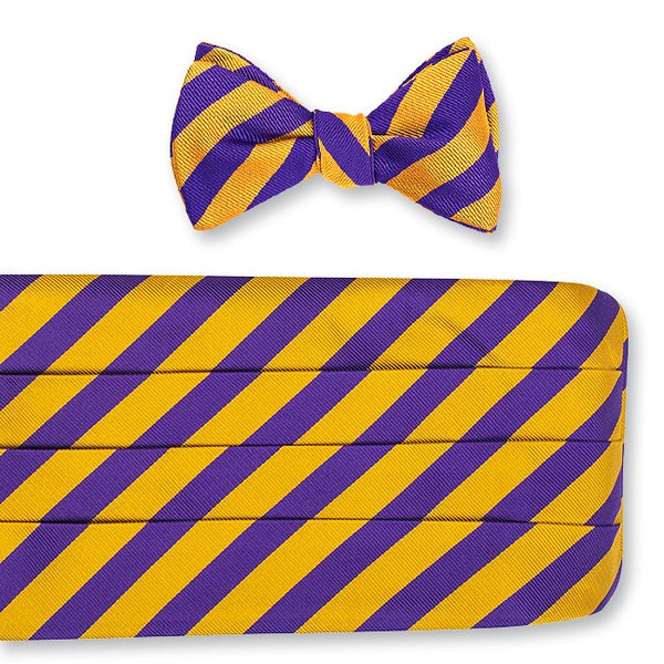 purple and gold cummerbund