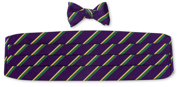 mardi gras bow tie and cummerbund sets