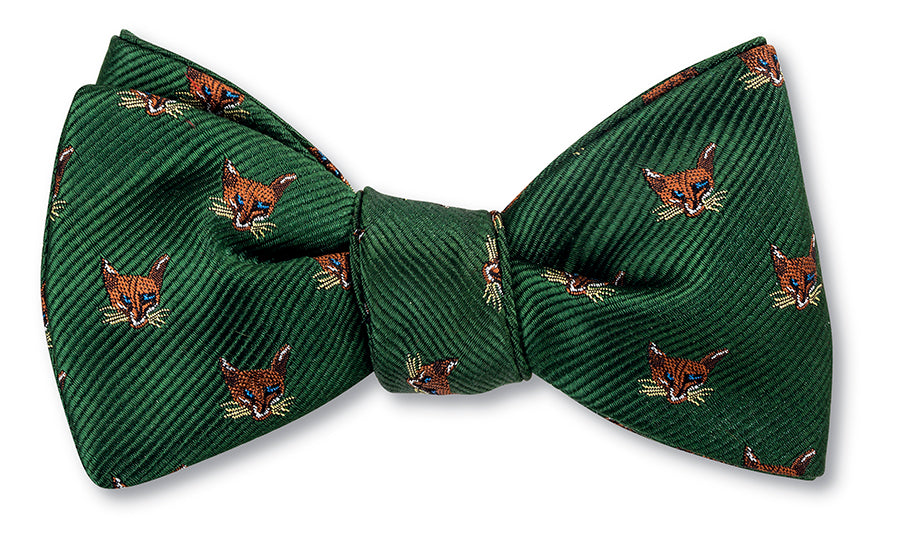 Olive Fox Mask Bow Tie - B2005