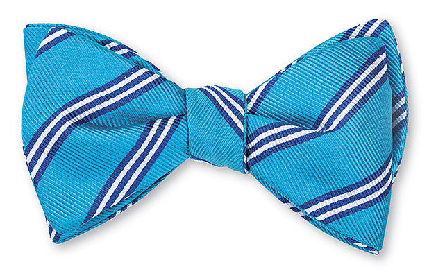 aqua brooks stripe bow tie