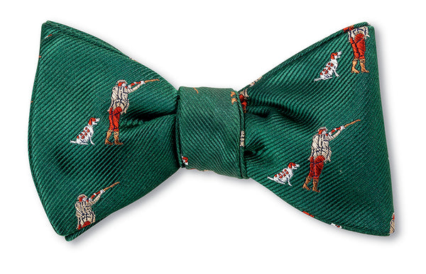 Olive Dog and Hunter Bow Tie