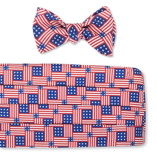 patriotic cummerbund set