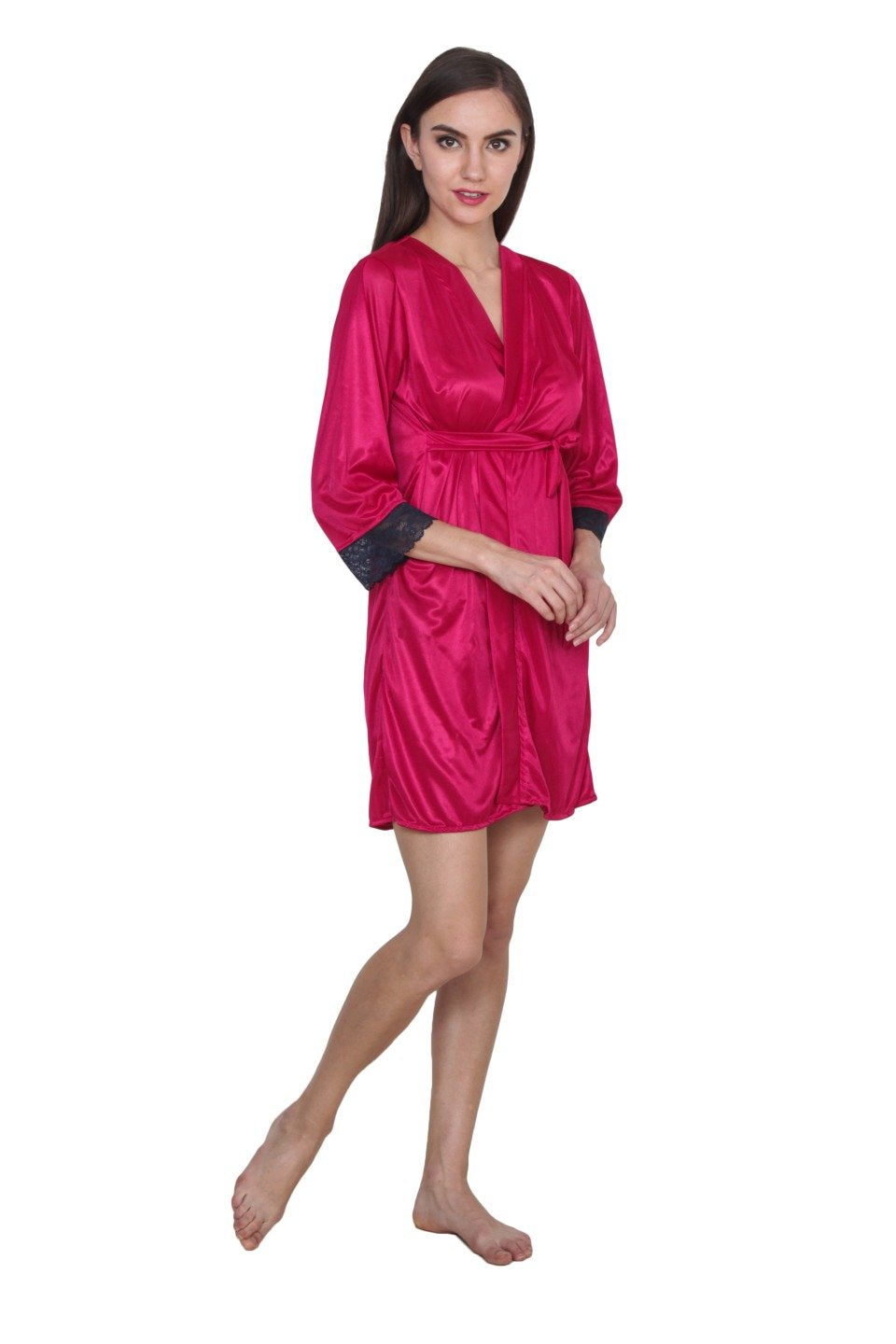 klamotten Women's Satin Full Sleeves Robe 209C