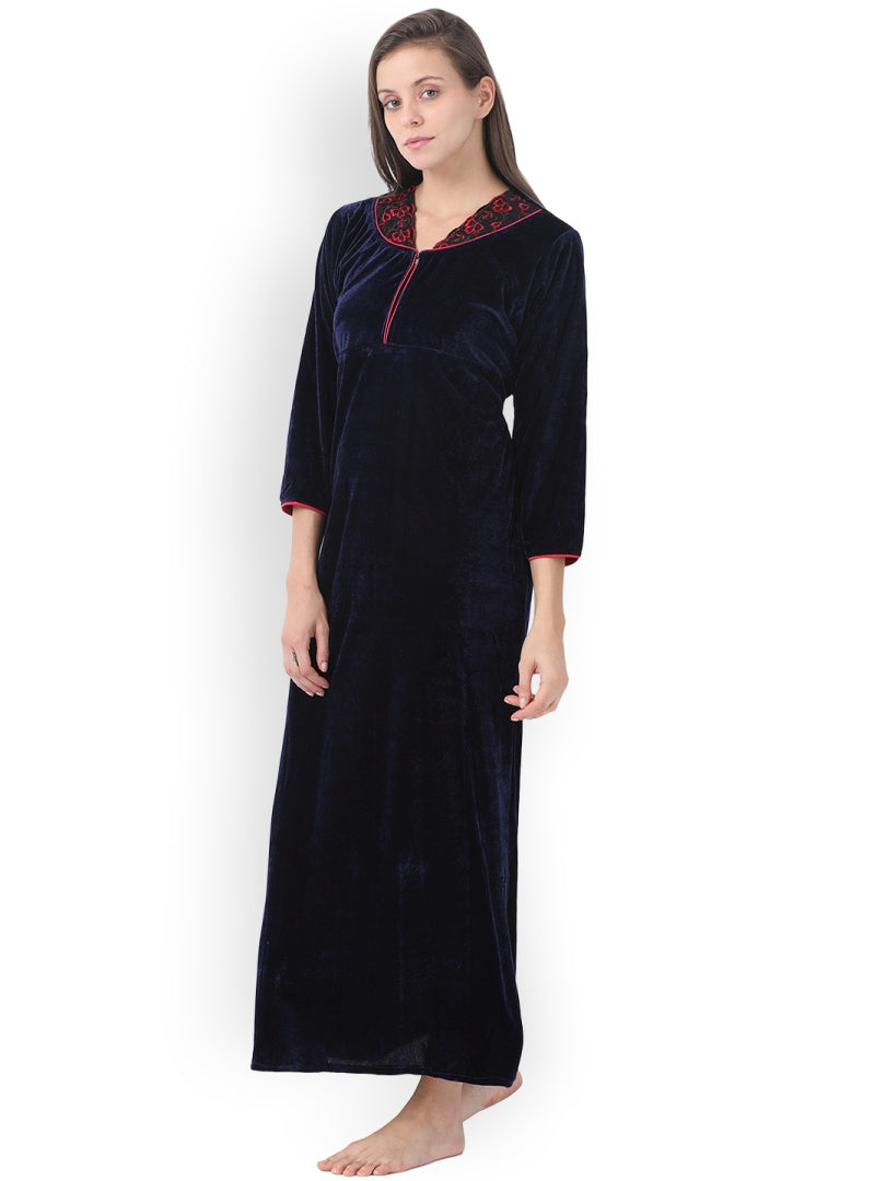 Klamotten Women's Velvet Nightdress 240N