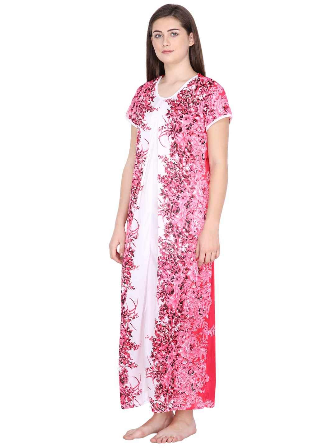Klamotten Women's Printed Long Nightdress 284C188