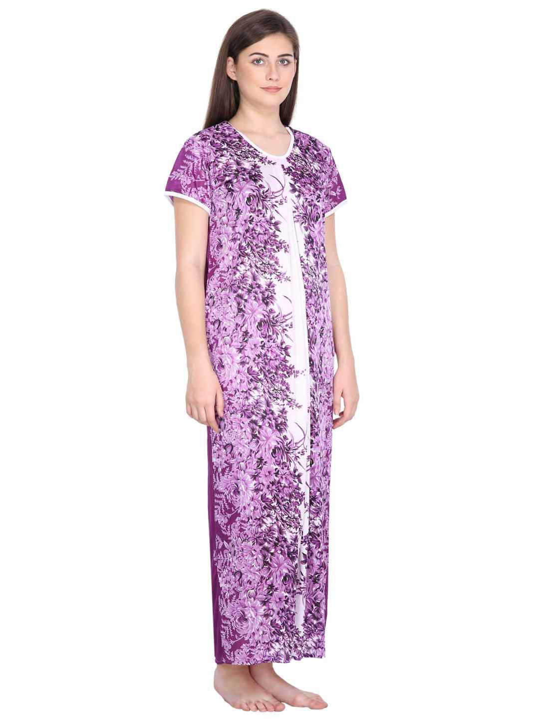 Klamotten Women's Printed Long Nightdress 284P188