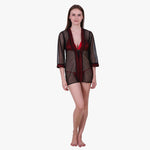 Klamotten Women's Satin Full Sleeves Robe B2C
