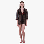 Klamotten Women's Satin Full Sleeves Robe B2M