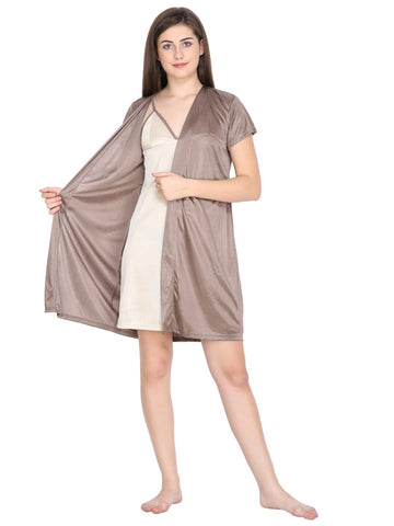Klamotten Women's Satin Robe Set  DB101Bm