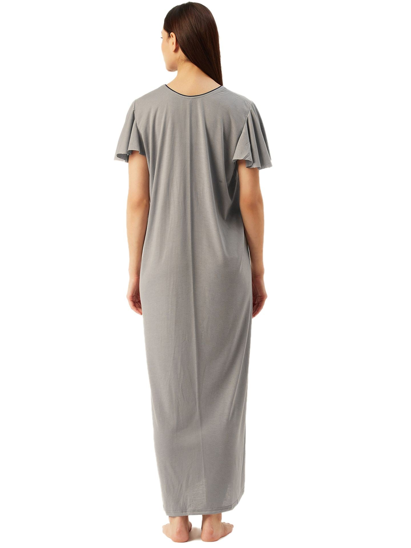 Klamotten Women's Poly Viscose Long Nightdress L3Z