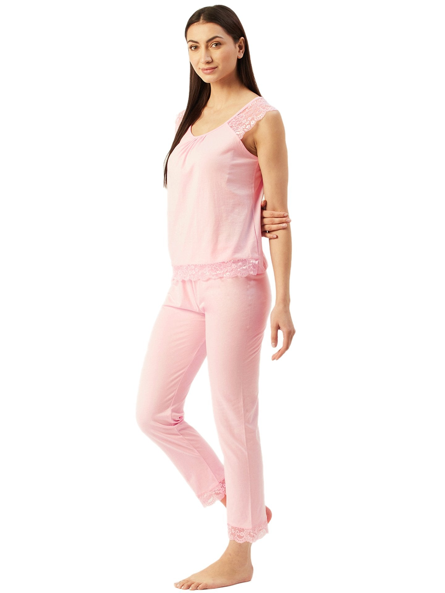 Klamotten Women's Top & Pyjama Nightsuit N103Rb