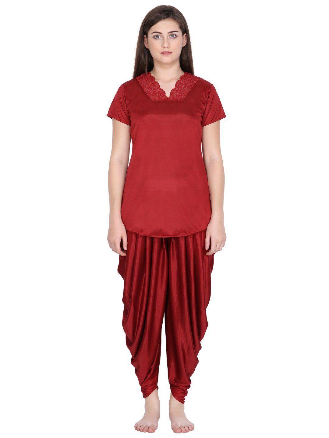 Klamotten Women's Solid Nightsuit N71M