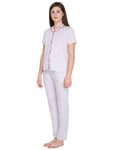 Klamotten Women's Solid Nightsuit N73Z