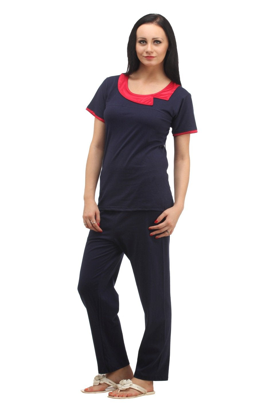 Klamotten Women's Solid Nightsuit NS52