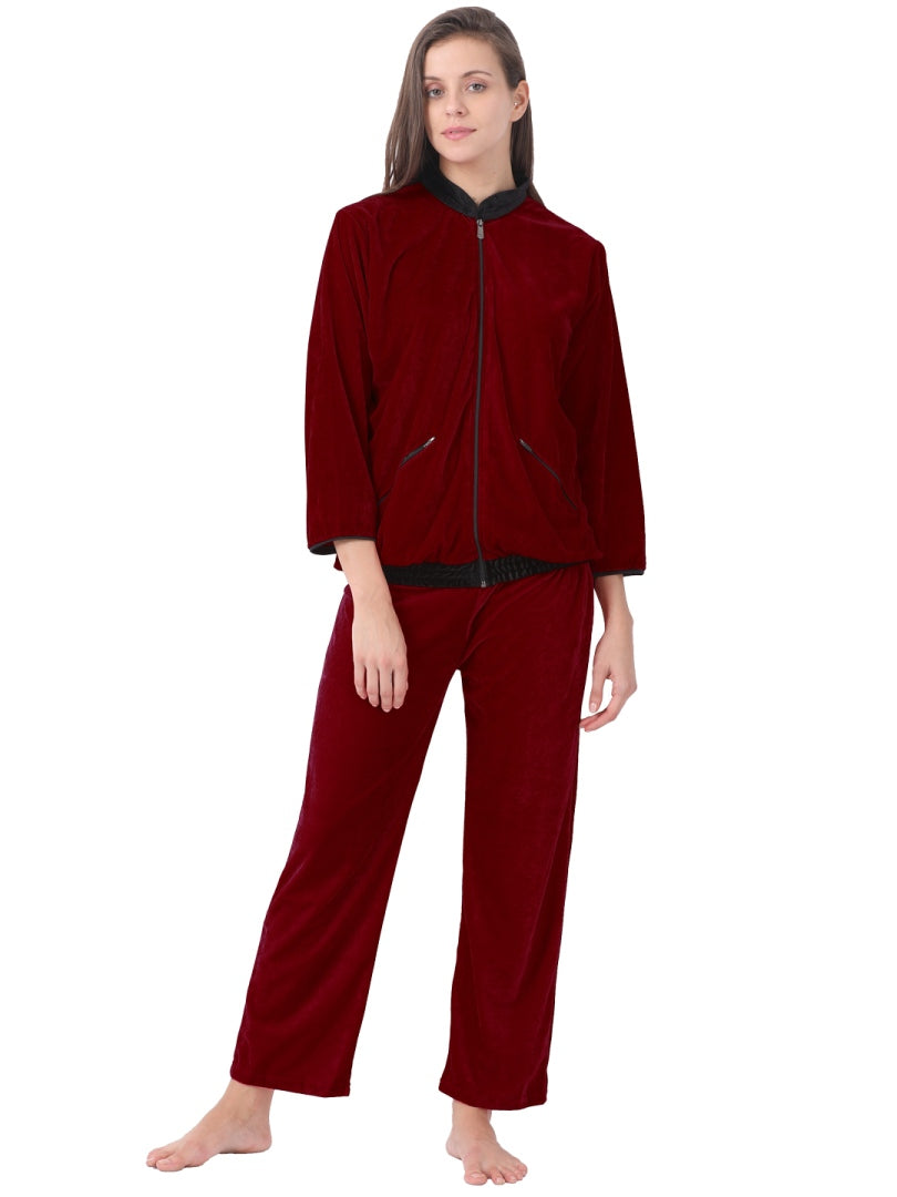Klamotten Women's Velvet Nightsuit NV53M