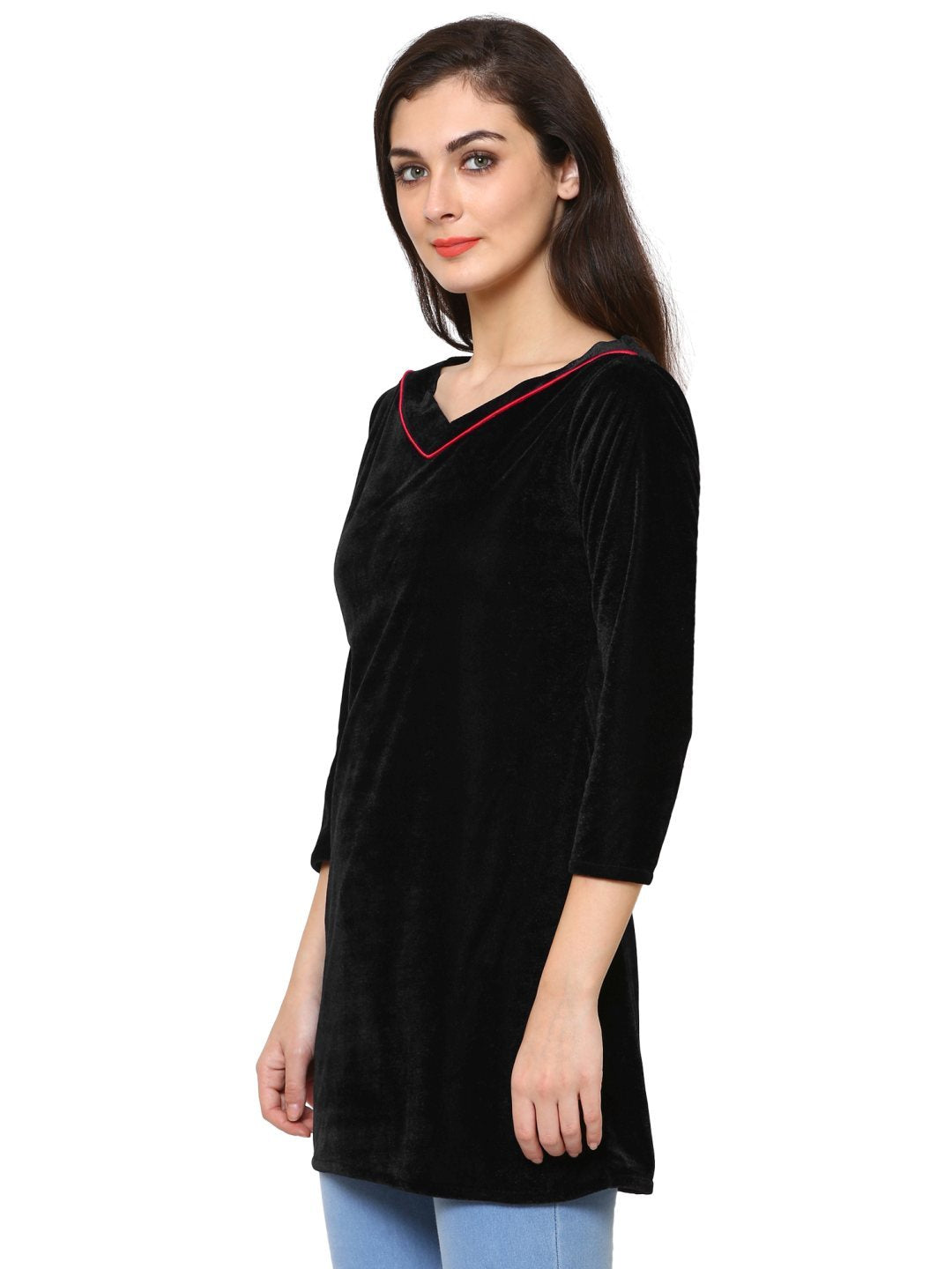 Klamotten Women's Velvet full Sleeves Top WD6K