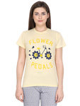 Klamotten Women's Graphic Print Round Neck T-Shirt WT19Yb